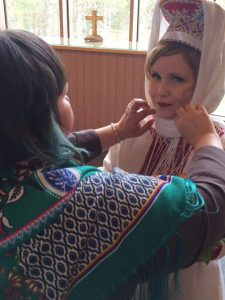 Getting ready for Sami wedding ceremony