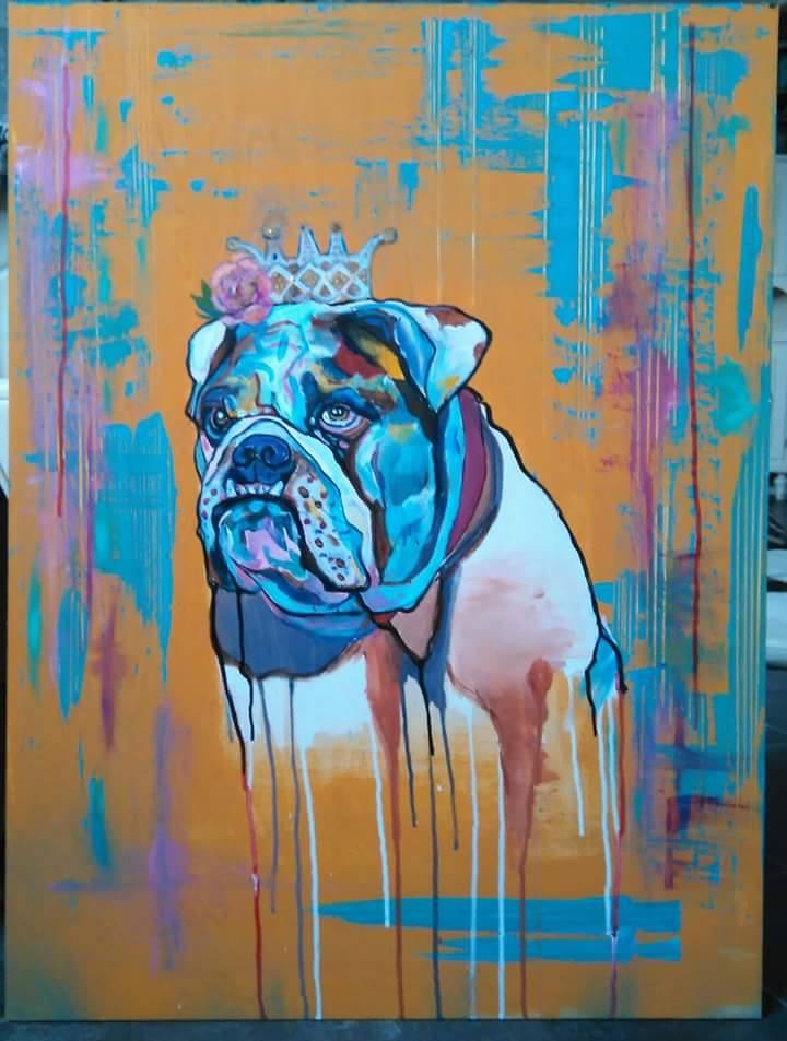 Tiina Hallalahden bulldoggimaalaus