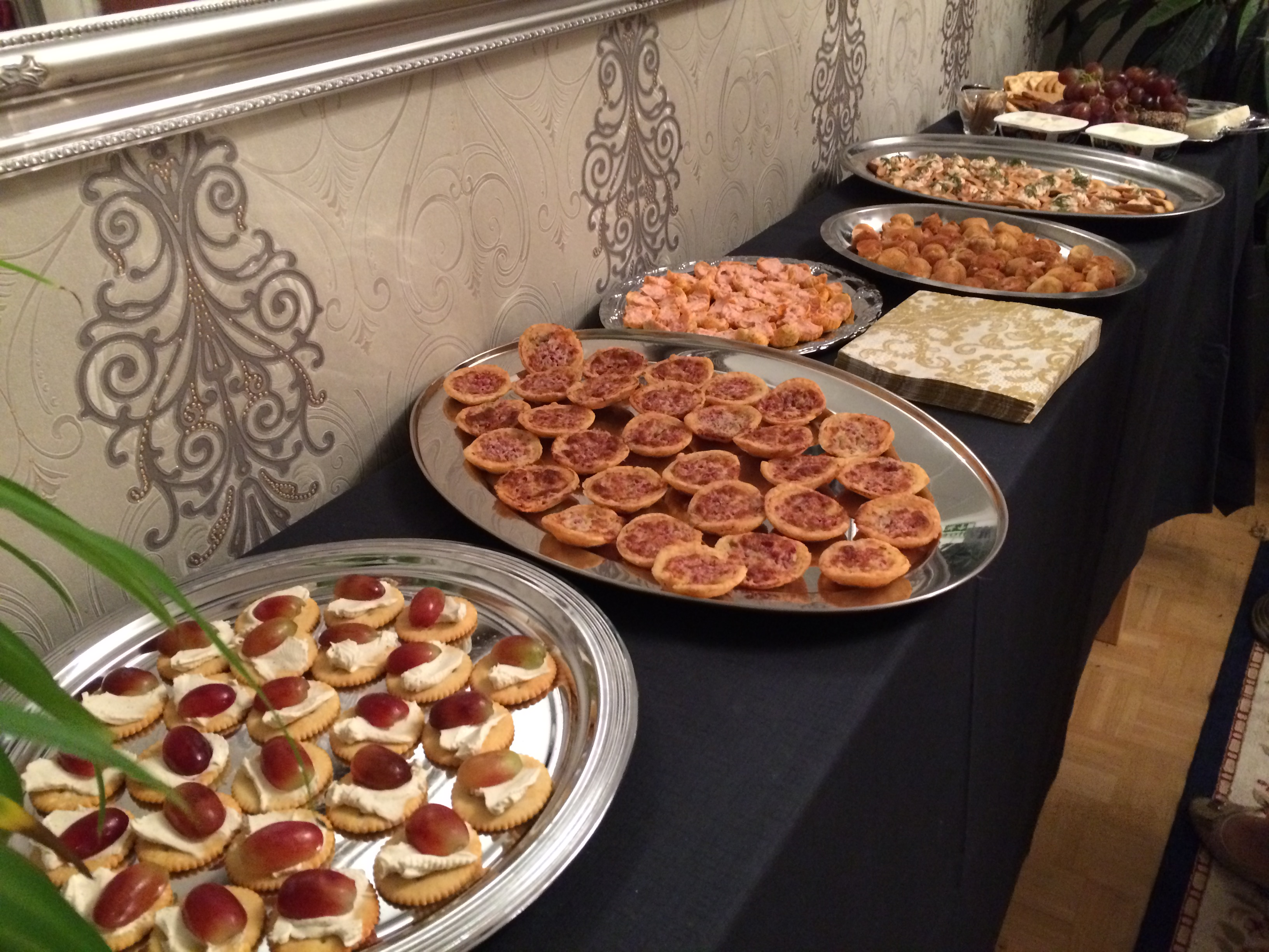 Canapés at Anu Beadle's 40th birthday party